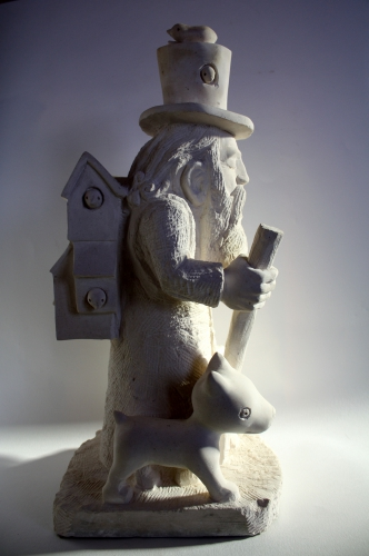 oiseaux ,pierre, sculpture