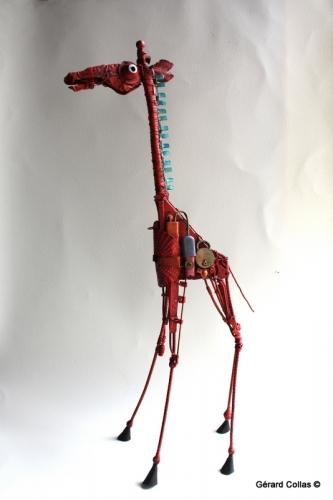 girafe,gérard collas,assemblage