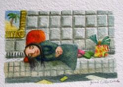 729 La damae qui dormait dans le métro.jpg