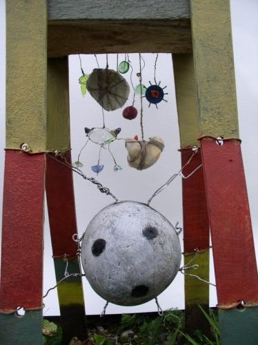 sculpture,assemblages,gérard collas,fées,forêt
