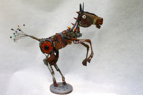 gerard collas, sculpture,cheval