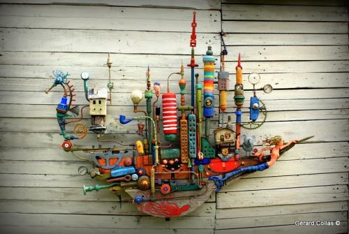 gérard collas,bateau,assemblage,L'odyssée buissonnière