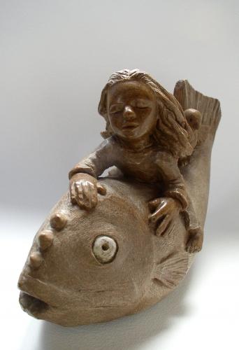 poisson enfant stéatite,pierre,gérard collas