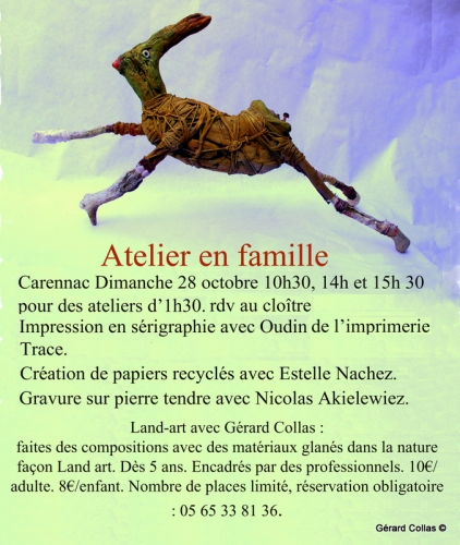 ateliers ,carennac, land-art,collas