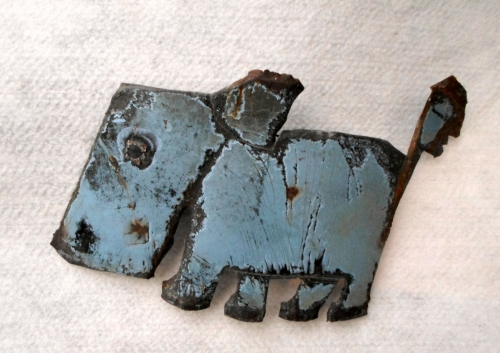 collas,sculpture,chien