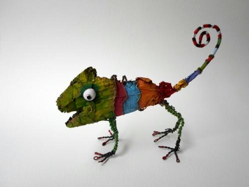 gérard collas -sculpteur-assemblage-art singulier-caméléon