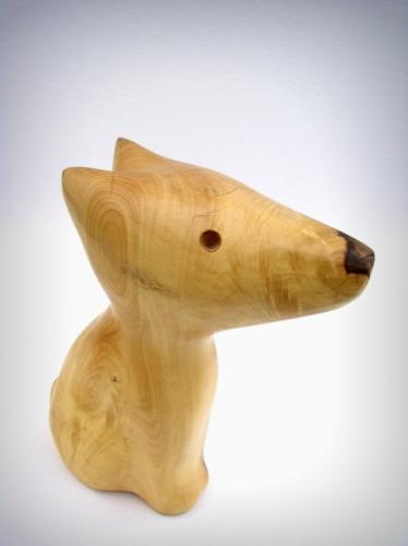 gérard collas,sculpteur,sculpture,buis,chien