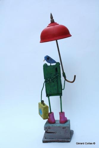 gérard collas,assemblage art brut singulier,grenouille