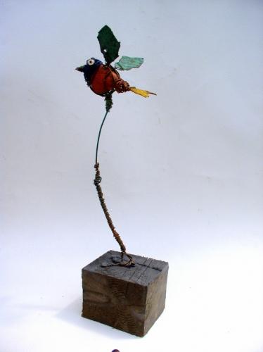 gérard collas -sculpteur-assemblage-art singulier-Oiseau