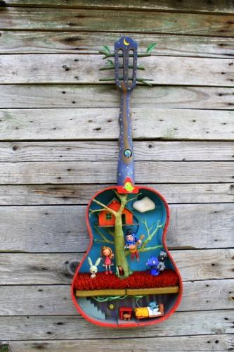 guitare, collas, cabane