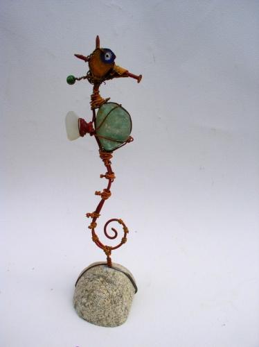 gérard collas -sculpteur-assemblage-art- singulier-hippocampe