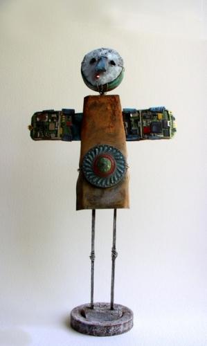 gérard collas -sculpteur-assemblage-art singulier-ange