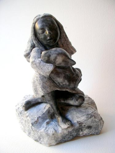 cybelle sculpture,pierre,stéatite,gérard collas