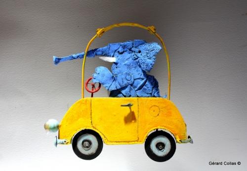 éléphant,bleu,voiture,asseemblage