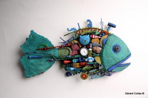 poisson, assemblage, rêve,gérard collas