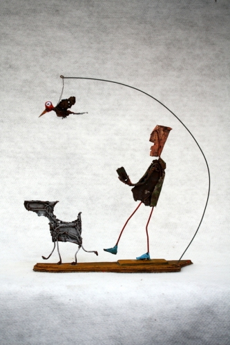 Les Rêveries du promeneur solitaire, Collas,assemblages sculpture