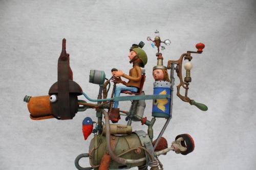 assemblage, chien, princesse ,mirobolant, gérard collas -sculpteur