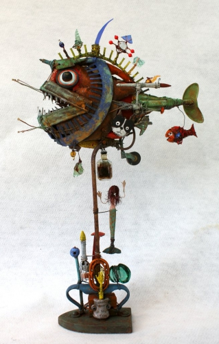 poisson, abysses,assemblages, gérard collas