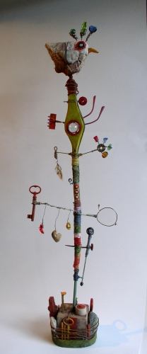 gérard collas,sculpture,assemblage,2012,oiseau,reves
