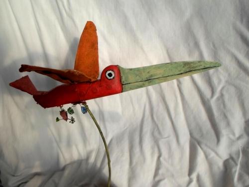 gérard collas,sculpteur,assemblages,oiseau,couteau
